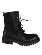 Del Carlo Classic Combat Lace-up Boots - Black