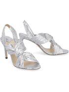 Jimmy Choo Metallic Leather Sandals - silver