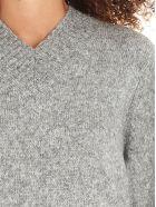 Helmut Lang 'brushed Knitwear Tie Slee' Sweater - Grey