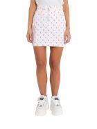 Calvin Klein Jeans Denim Skirt All-over Ck - Bianco