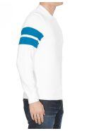 Calvin Klein Tape Yarn Stripe Sleeve Sweater - White