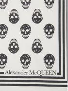 Alexander McQueen Skull Biker Scarf - WHITE/BLACK