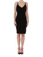 Off-White Knit Industrial Long Dress - Black