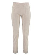 D.Exterior Embroidered Jogging Trousers - Beige