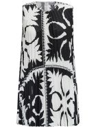 RED Valentino Maxi Top With Optical Print - Black