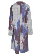 Y's Check Painted Coat - Galles Blue