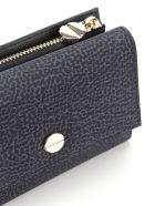 Borbonese Medium Wallet W/zip - Nero/nero