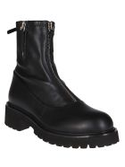 Giuseppe Zanotti Black Leather Combat Boots - Black