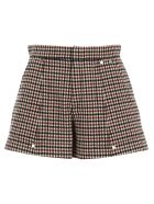 Chloé Chloe' Check Shorts - CAMEL RED