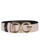 Dolce & Gabbana Blush Pink Leather Belt - Pink