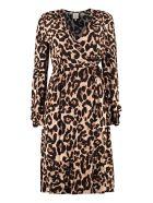 Baum und Pferdgarten Adelota Leopard Printed Midi Dress - Animalier