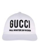 Gucci Embroidered Baseball Hat - BLACK/WHITE