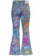Versace Flared Jeans With Medusa Amplified Print - Multicolor