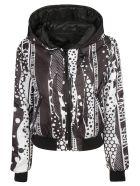 Versus Versace Logo Patch Hooded Jacket