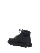 Dolce & Gabbana Vulcano Hiking Boots Crafted In Rubberized Leather And Neoprene - Nero