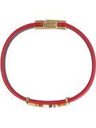 Saint Laurent Opyum Leather Bracelet - red