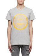Balmain Medallion T-shirt - Orange fluo grigio