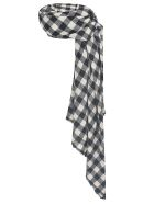A Punto B Checked Scarf - Black/Ecru
