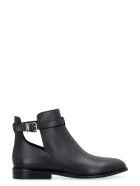 MICHAEL Michael Kors Lawson Leather Ankle Boots - black