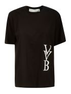 Victoria Victoria Beckham Raised Logo T-shirt - Black
