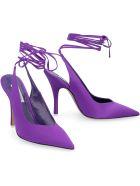 The Attico Venus Fabric Slingback Pumps - purple