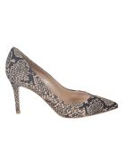Gianvito Rossi Snake-skinned Pumps - Mousse