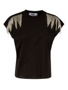 MSGM Embellished Slim T-shirt - Black