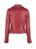 MICHAEL Michael Kors Lambskin Jacket - Burgundy