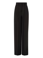 MSGM Wool Wide-leg Trousers - black