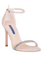 Stuart Weitzman Glitter Embellished Sandals - Dolce Clear