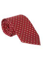 Salvatore Ferragamo Patterned Tie - Red/ecru