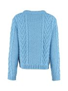Weekend Max Mara Sagoma Cable Knit Sweater - Blue