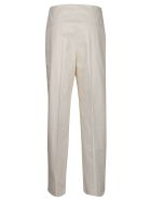 Jil Sander Navy Cropped Stretch Trousers - Basic