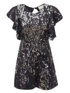 aniye by Short Sequined Dress - Nero