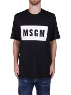 MSGM Black Cotton T-shirt - Black