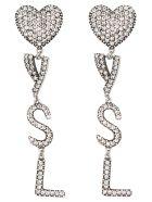 Saint Laurent Earrings - Argent Oxyde Crystal