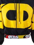GCDS Black Cotton Hoodie - Nero