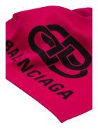 Balenciaga Oversized Bb Mode Scarf - Fuxia