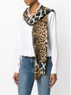 Saint Laurent Scarf Etamine - Beige/black