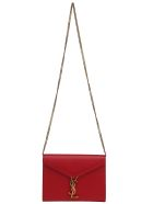 Saint Laurent Chain Wallet - Rouge/nero