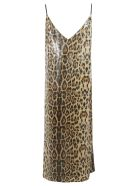In The Mood For Love Animal Print Dress - Panther brown