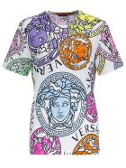 Versace Jersey T-shirt With Medusa Amplified Print - White
