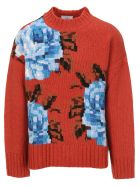 Ami Alexandre Mattiussi Sweaters AMI OVERSIZE FLOWERS SWEATER