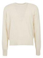 Ami Alexandre Mattiussi Knitted Woven Sweater - Off white