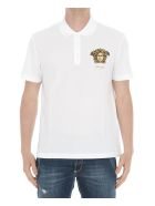 Versace Medusa Detail Polo - White