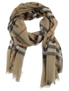 Burberry Giant Check Gauze Scarf - Beige