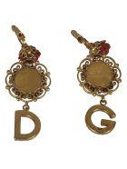 Dolce & Gabbana Crystal Embellished Earrings - Multicolor