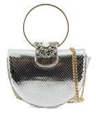 Gedebe Brigitte Python Halfmoon Shoulder Bag - Argento