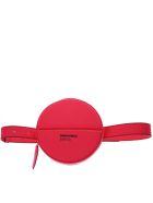 Dsquared2 Fucsia Logo Round Belt Bag In Leather - Fucsia fluo