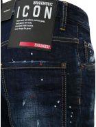 Dsquared2 Denim Jeans With Color Splash Detail - Blu